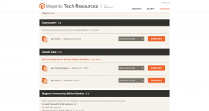 Magento 1.9 Download Page